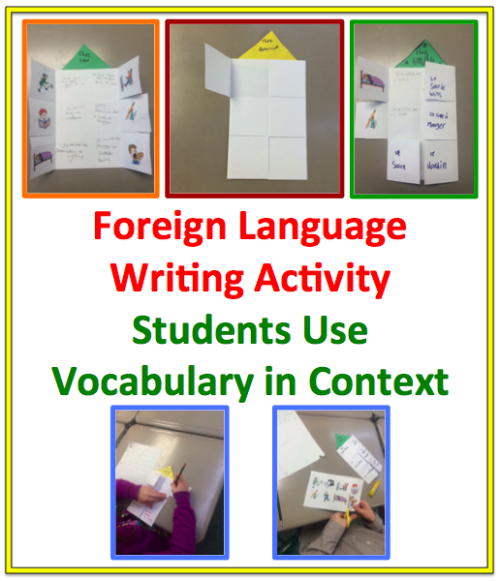 Foreign Language  Writing Activity: Students Use Vocabulary in Context